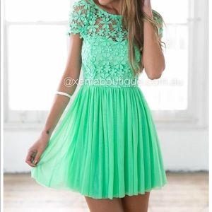Xenia Boutique Dresses Neon Turquoise Dress Australia Poshmark